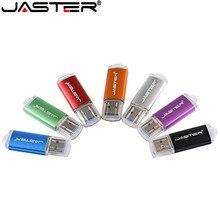 Personalize a movimentação colorida 8g/16g/32g/64g do flash de usb dos grampos do metal do logotipo usb 2.0 varas de alta velocidade do presente da movimentação da pena sobre o logotipo de 10 pces livre