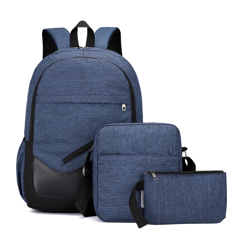 3PCS/Lot Fashion Pretty Style Student's School Backpack High Quality Durable Oxford Boy's School Shoulders Bag Backpack Satchel
