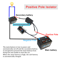 12V double car battery isolator Double Smart battery controller Automatic charging and energy manager