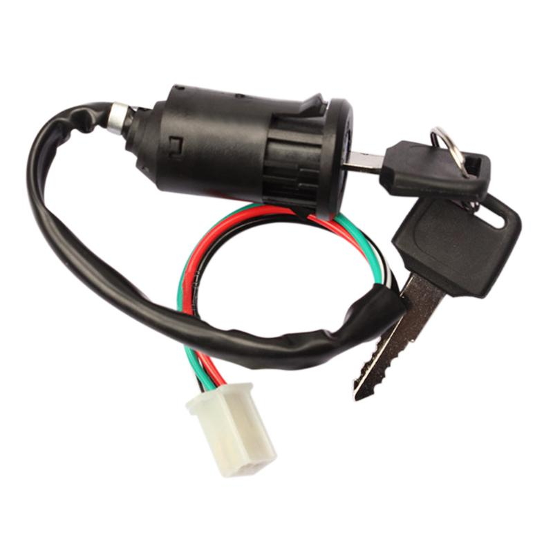 Motorcycle Ignition Switch Key Motorbike Universal Ignition Switch With 4Wires Socket Key For Kawasaki Honda Suzuki Kazuma Moto