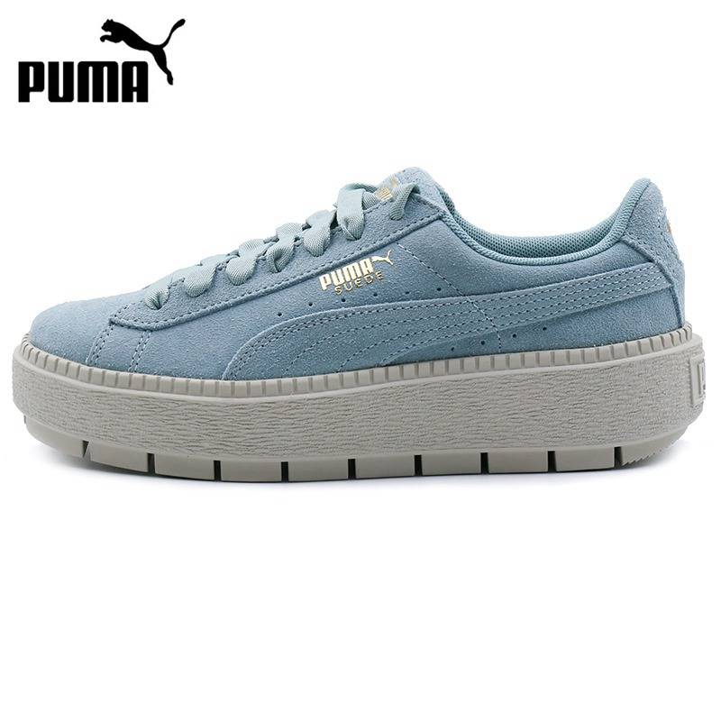 Original New Arrival 2018 PUMA Suede Platform Trace Wns Women's Skateboarding Shoes Sneakers original new arrival 2018 puma suede classic unisex s skateboarding shoes sneakers