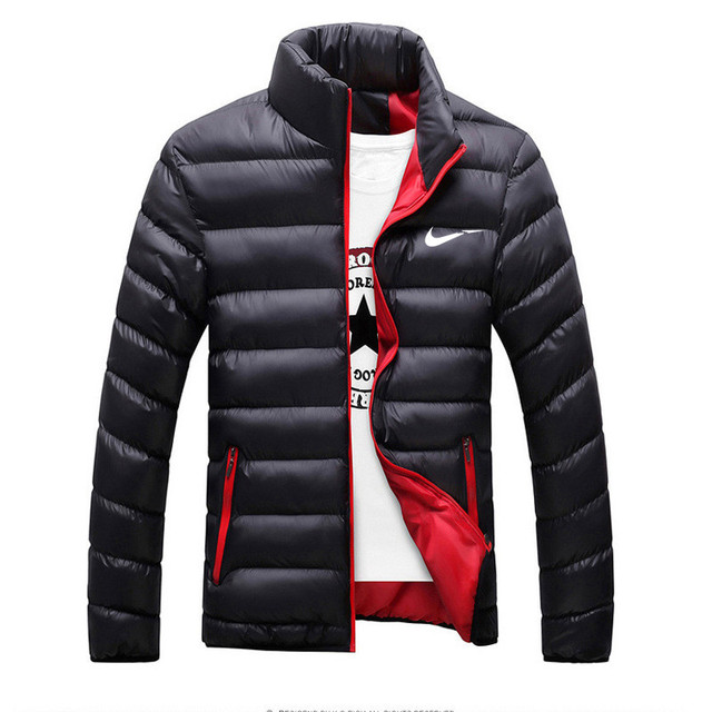 Winter Jacket Men 2019 Fashion Stand Collar Solid Thick Jackets and Coats Parkas M-6XL Just Pikachu Do It gifts for boyfriend