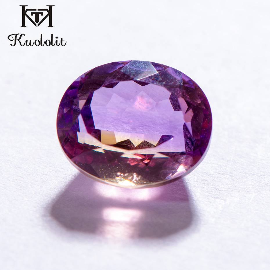 Kuololit 100% Natural Ametrine Oval Cut Loose Gemstone 6ct Real Ametrine Loose Stone for Gold and Silver Ring Making DIY jewelryKuololit 100% Natural Ametrine Oval Cut Loose Gemstone 6ct Real Ametrine Loose Stone for Gold and Silver Ring Making DIY jewelry