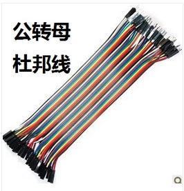 40pcs in Row Dupont Cable 20cm 2 54mm 1pin 1p 1p Female to Male jumper wire