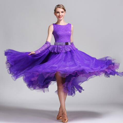 Modern tango dress ballroom waltz dress ballroom dreses for girls dress ballroom purple