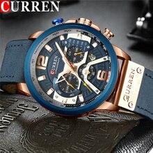 Curren Top Marke Uhr Männer Luxus Marke Leder Waterpoof Chronograph Mann Armbanduhr Sport Männlichen Uhr Neue Relogio Masculino 8329