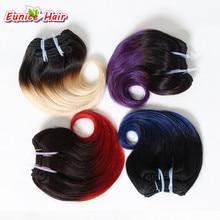 Ombre Hair Extensions Short Body Wave Hair 8inch Short Weaves 4 Bundles 100g/pcs Brazilian Virgin Human Weft Hair Fast Shipping