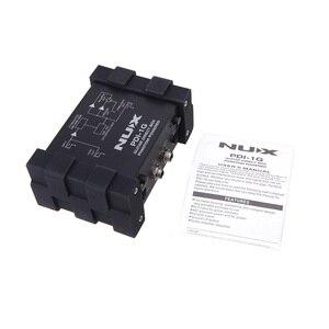 Image 3 - NUX PDI 1G Guitar Direct Injection Phantom Power Box Audio Mixer Para Out Compact Design Metal Housing