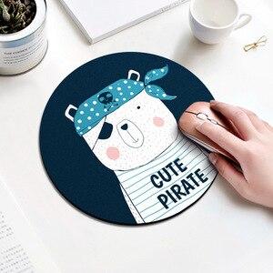 Image 5 - 20cm dos desenhos animados animal padrão mouse almofada redonda mousepad escritório ratos almofada de borracha computador em casa anti deslizamento esteira de mesa sala de estudo pc