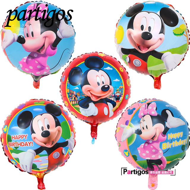 50 Teile Los 4545 Cm Cartoon Minnie Mickey Mouse Luftballons