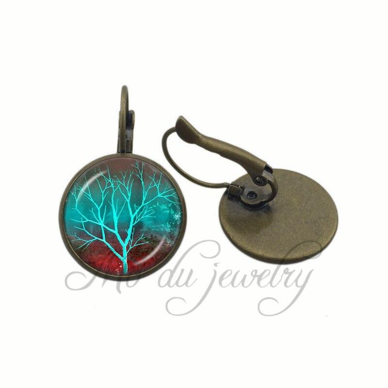 ▽Azul pendiente árbol sabiduría Árbol de la vida encantos pendiente ...