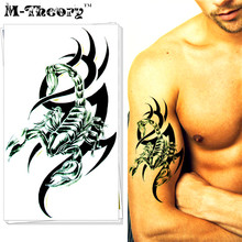 M-Theory Temporary 3d Makeup Flash Tattoos Body Arts Scorpion Tatuagem Fake Tatoos Stickers 12x20cm Swimsuit Bikini Makeup Tools