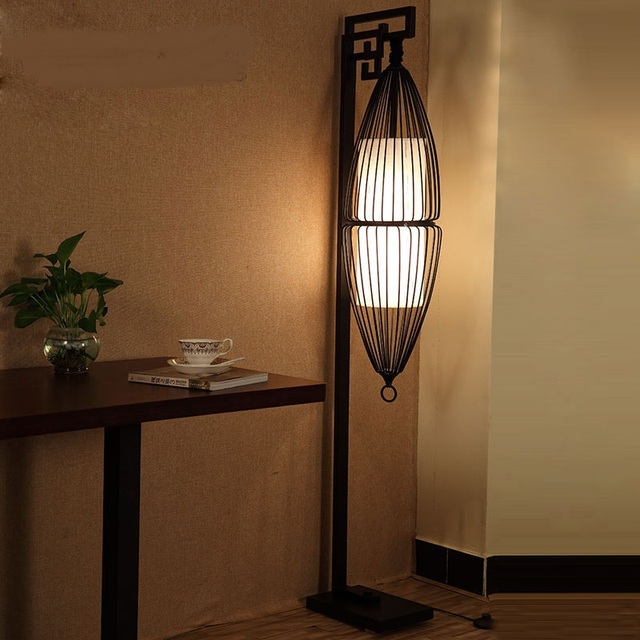 Attrayant Chinese Classical Floor Lamp Living Room Antique Bedroom Tall Desk Lamp  Study Creative Floor Lamps ZA889