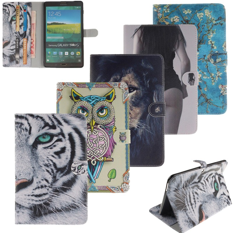 Attractive PU Flip Leather Tablet Case Cover For Samsung Galaxy Tab A 10.1 2016 SM- T580 SM - T585 Owl Tablet Stand Back Cover