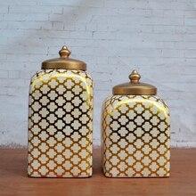 Tao Caicai European foreign trade ceramic ornaments Quartet decorative pot restaurant side cabinet decor Zhaocai