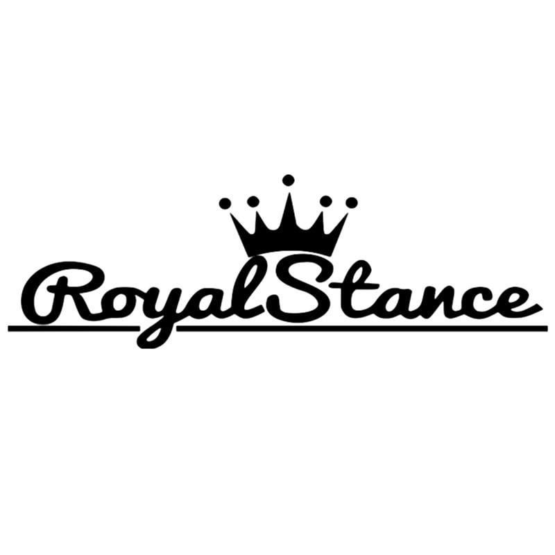 CS-234#15*46cm 10*30cm royal stance funny car sticker and decal silver/orange vinyl auto car stickers