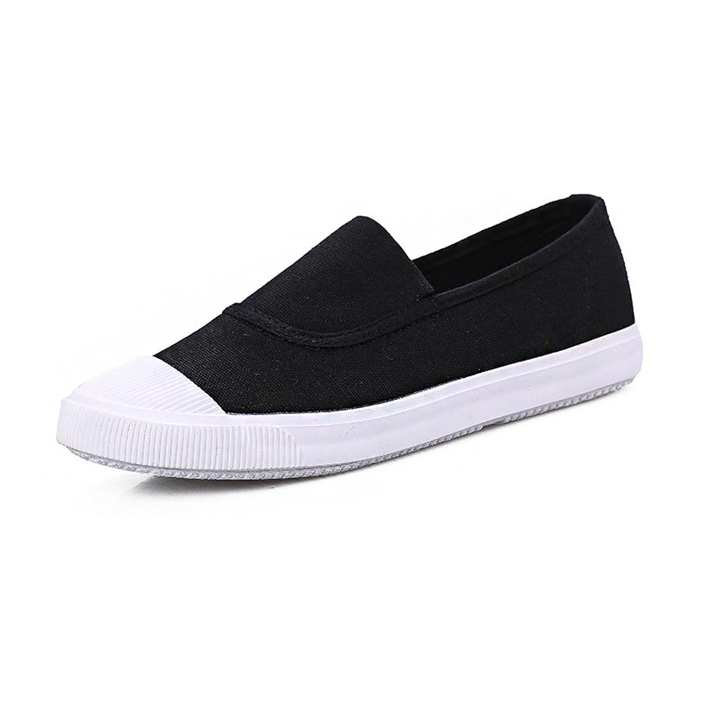 2018 new summer canvas student flat comfortable white shoes women basic casual shoes slip-on canvas walking shoes female 2018 new canvas shoes spring summer women shoes genuine leather canvas shoes female round toe flat shoes lace up female canvas s
