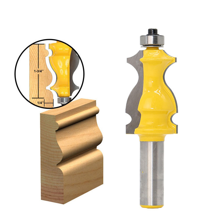 1PC Jewelry Box Foot Mold Router Bit - 1/2 Shank Line knife Woodworking cutter Tenon Cutter for Woodworking Tools high grade carbide alloy 1 2 shank 2 1 4 dia bottom cleaning router bit woodworking milling cutter for mdf wood 55mm mayitr