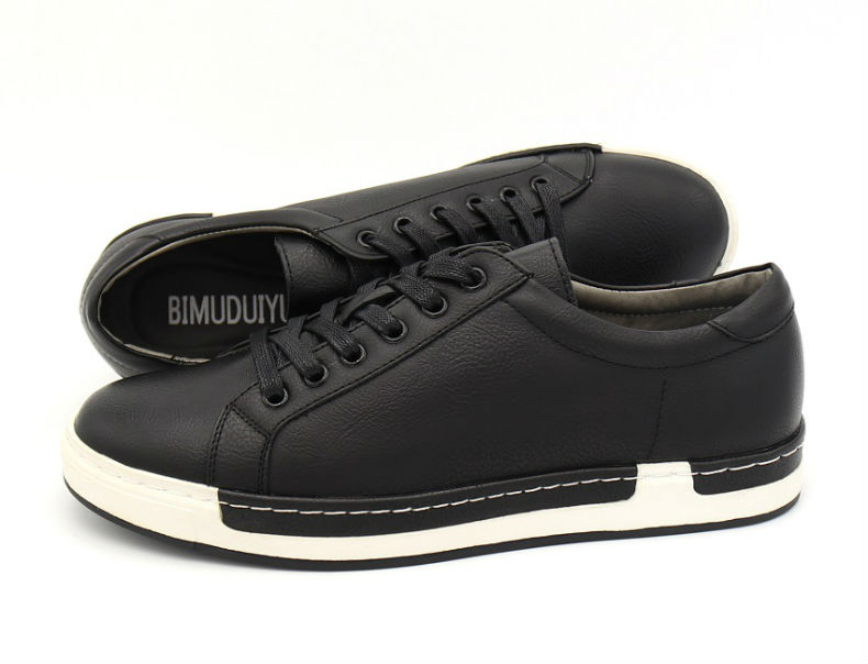 BIMUDUIYU Casual Lace-Up Genuine Leather Oxford Shoes For Men