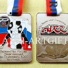 Русский большой медальон ADCC Спортивная награда квадратной формы