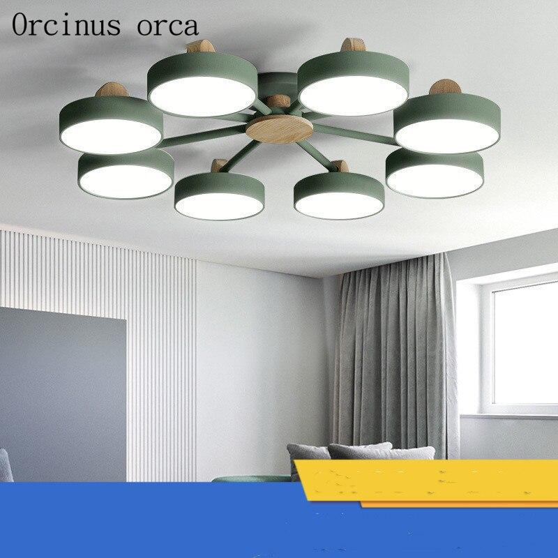 Скандинавский минималистичный светодиодный потолочный светильник, потолочный светильник для гостиной, спальни, современный персональный