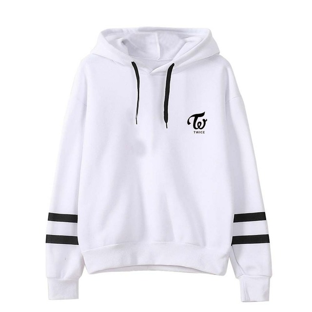 TWICE MEMBER NAME STRIPED HOODIE (11 VARIAN)
