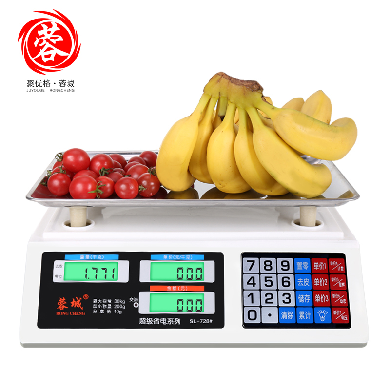 30KG 1g Electronic Digital Pricing Scale Accurate Kitchen Electronic Scales for Fruit Vegetables Count Platform Scales 100g 0 1g lab balance pallet balance plate rack scales mechanical scales students scales for pharmaceuticals with weights