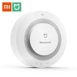 الأصلي Xiaomi Mijia جهاز إنذار حرائق كاشف الغاز الدخان التقدمي الصوت إنذار دعم عن بعد APP الذكية الأمن الرئيسية