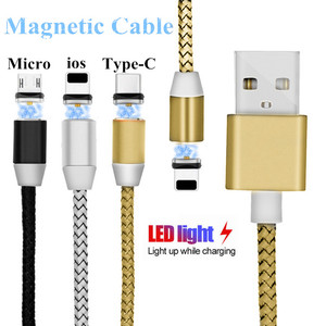 USB-кабель для быстрой зарядки, магнитный кабель для iphone Sony Xiaomi Redmi 4X 4A 5A Redmi 5 Plus Mi 9 8 A1 5X Note 5A S2 Redmi 6 6A PRO Note 7