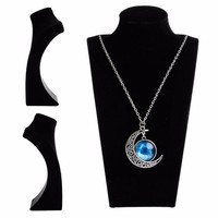 Velvet Mannequin Necklace Jewelry Pendant Display Stand Holder Show