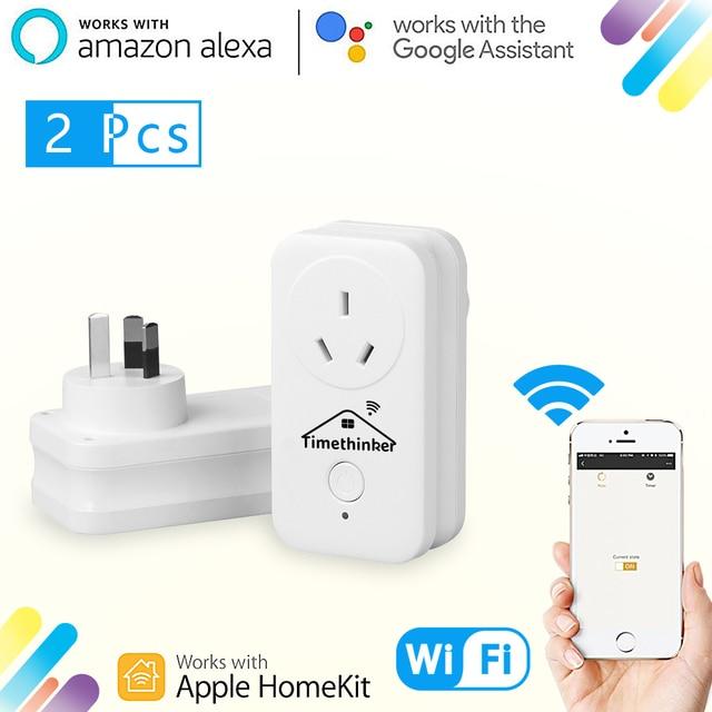 Timethinker WiFi Smart Socket Eye4smart APP for Apple Homekit ALexa Google Home Siri Voice Remote Control Timer Modules