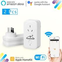 Timethinker WiFi inteligentne gniazdo Eye4smart APP dla Apple Homekit ALexa Google Home Siri głosowe zdalne sterowanie moduły czasowe