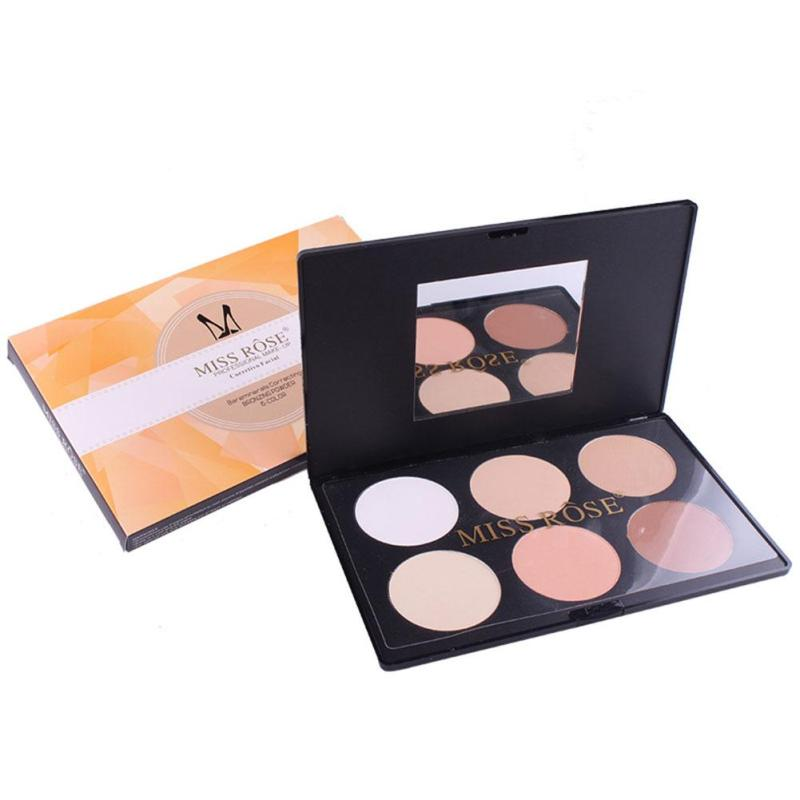 MISS ROSE 6 Color Face Powder <font><b>Contour</b></font> Palette Make Up Studio Fix Shading Mineral Pressed Powder Pro Makeup Palette A3