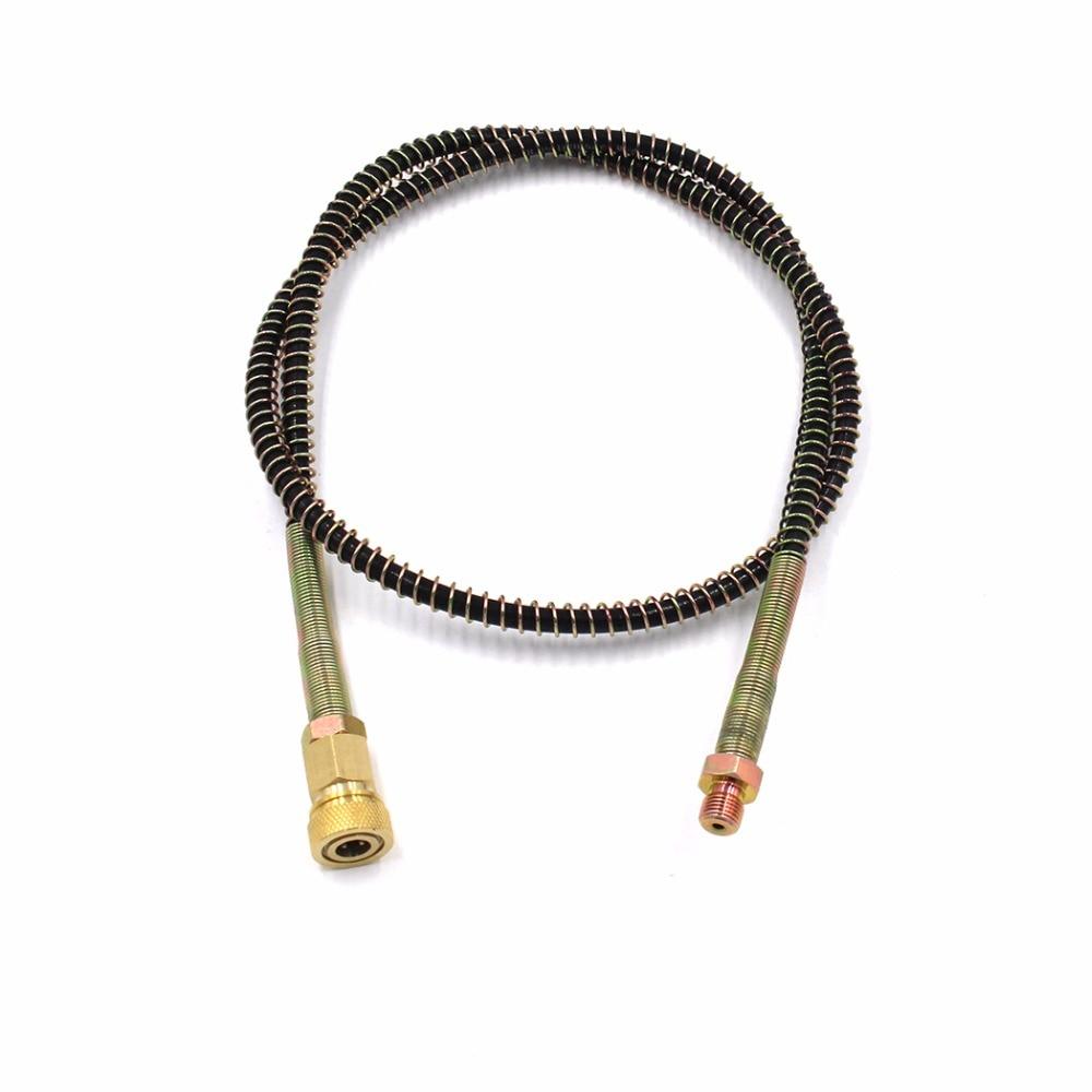 PCP Airforce Pneumatics Air Pump High Pressure Nylon Hose 50cm/100cm/150cm/200cm Hose With Quick Disconnect M10x1 Male HFQD1