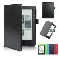 PU Leather Flip Cover Case For Kobo Glo HD EBook Case Ultra Slim Magnet Smart 6