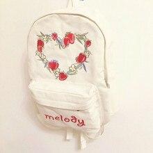 Оригинальный дизайн японский мягкой сестра клубника вышивка рюкзак прекрасный милый студент мешок школы высокого качества забронировать мешок