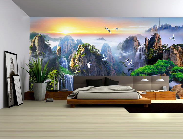 3d papel Murals Mountain Crane Chinese 3d wall mural wallpaper for living room sofa background 3d photo mural 3d wall Stickers 8d papel wolf animal murals 3d animal wallpaper mural for living room background 3d wall photo murals wall paper 3d stickers