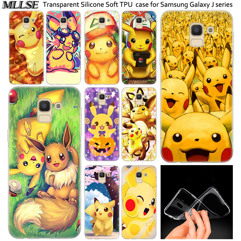 Anime Pokemons Pikachu Soft Silicone Case For Samsung Galaxy J2Pro J4 J6 J8 2018 J3 J5 J7 2016 2017EU Prime CORE Plus Cover image