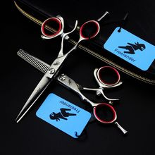 Freelander Left Hand 5.5 inch Barber Hairdressing Scissors Cutting Shears Thinning Scissors Professional Hair Scissors microscopic instruments 14 cm micro scissors inner barrier cut quality scissors hand surgery membranous envelo
