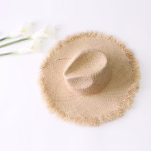 2018 Summer Large Wide Brim Raffia Straw Hats Woven Circle Fringe Beach Cap Sun Protection Big Jazz Straw Hat A1