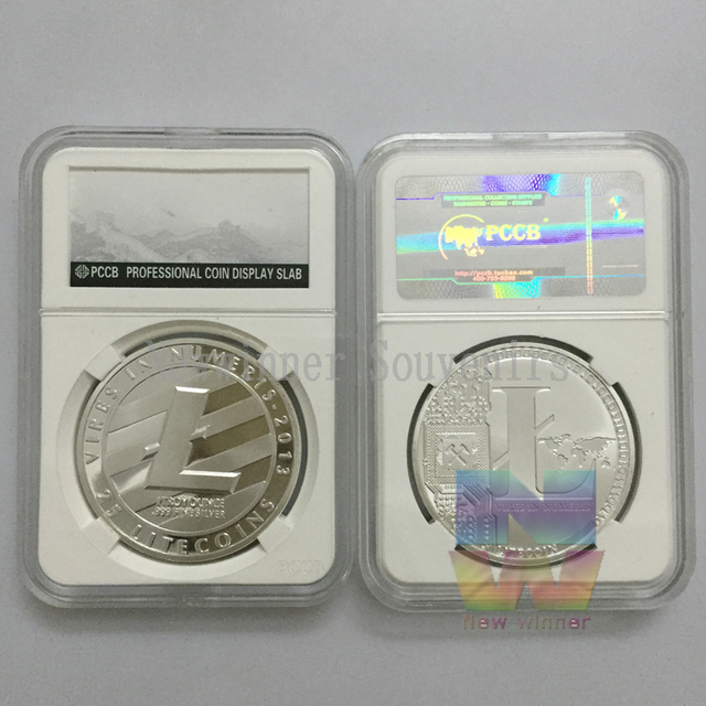 US $35 5 |Litecoin Collectible LTC Coin 1 Troy Ounce Fine Silver Plated  Souvenir Vires in Numeris Medallion Europe Coin not Bitcoin on  Aliexpress com
