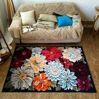 3D Blühende Pfingstrose Blumen Pastoralen Land Floral Weiche Flanell Boden Fuß Matte Bad Parlor Wohnzimmer Decor Teppich Bereich Teppich|Teppich|Heim und Garten -