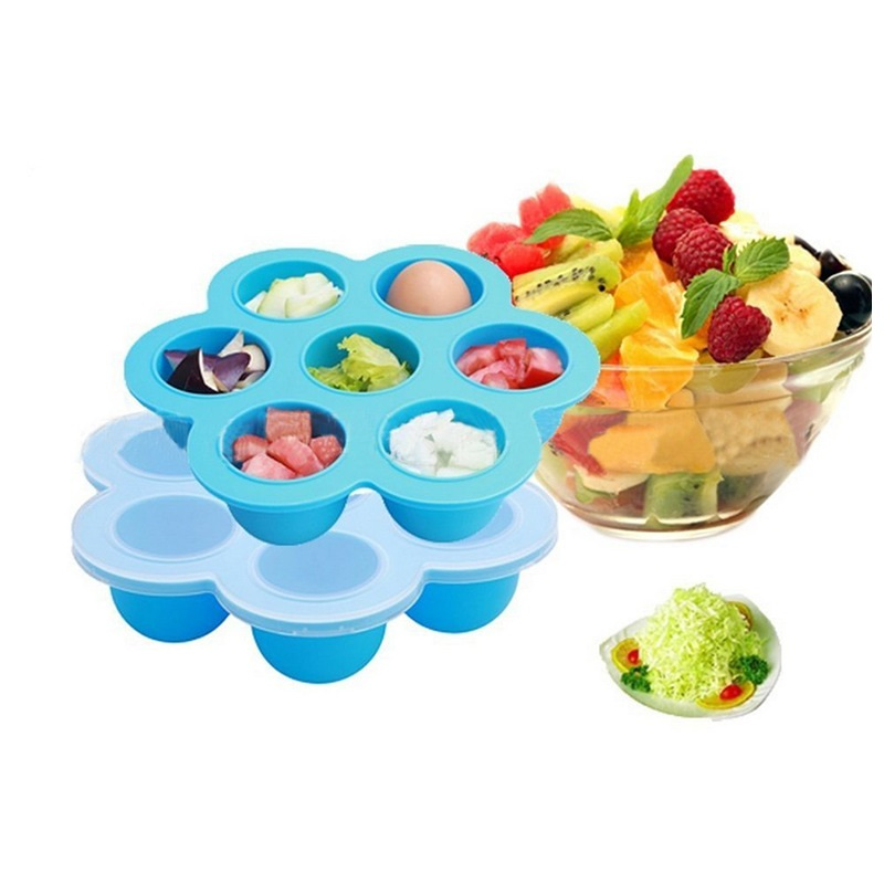 Silicone Egg Bites Molds Baby Food Freezer Containers