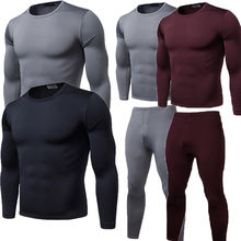 2019 Winter Warm 2Pcs Men Underwear Long Johns Thermal Under
