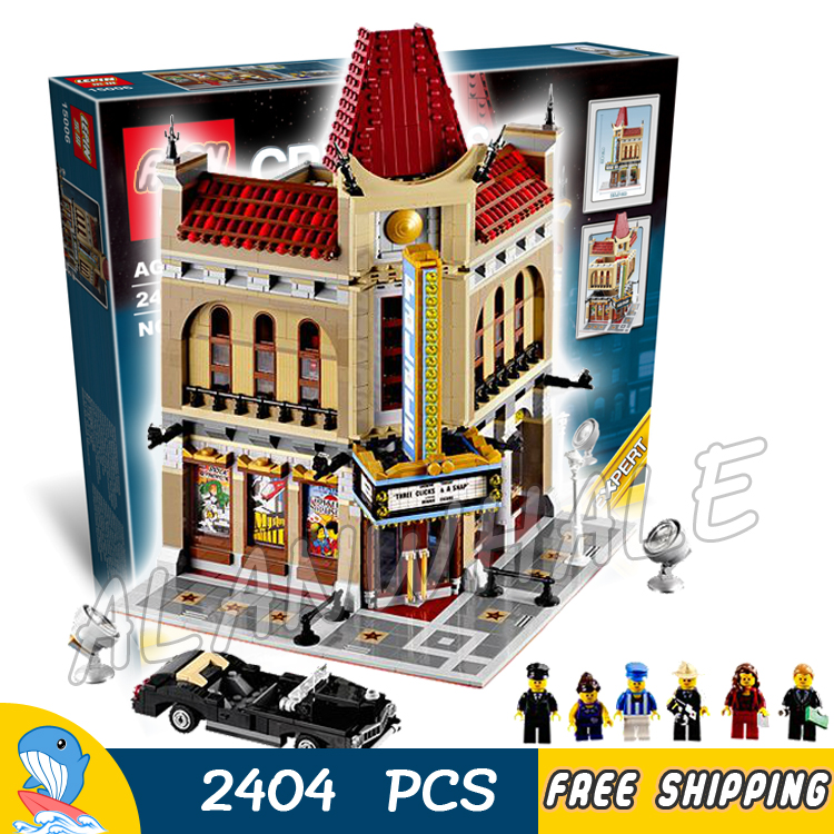2404pcs 15006 Creator Palace Cinema 3D Model Building Blocks Bricks Vehicles town audience Toys Compatible with Lego 2016 new lepin 15006 2354pcs creator palace cinema model building blocks set bricks toys compatible 10232 brickgift