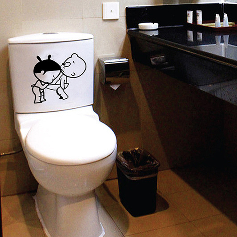 Funny Bathroom Decor Home Decoration Creative Toilet Stickers For ...