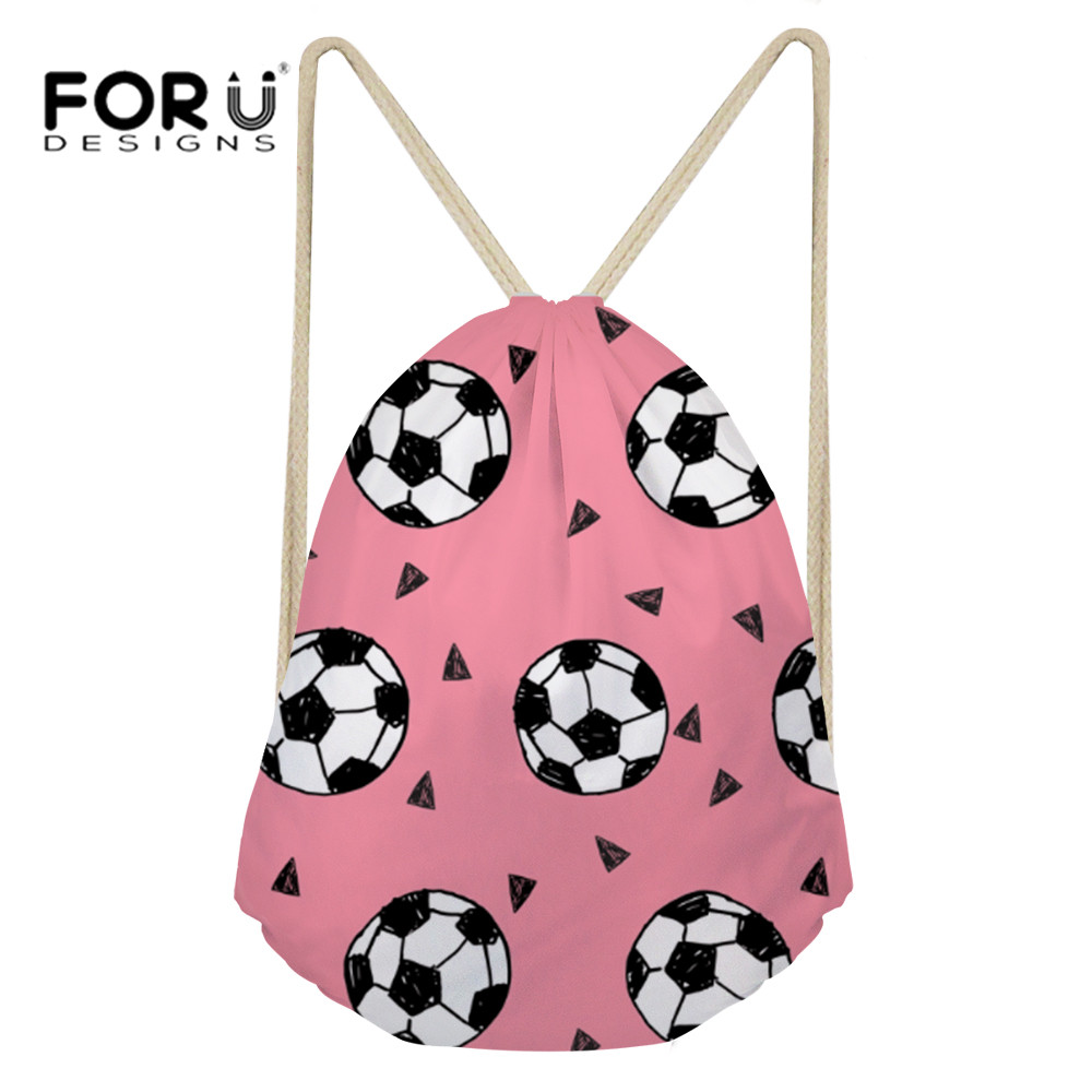 FORUDESIGNS Women Drawstring Bag 3D Balls Printing Small Drawstring Backpack Gym Sack Beach Bags String Bags For Ladies 2018