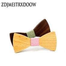 Детский модный официальный деревянный галстук бабочка Детские