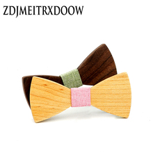 Children Fashion Formal Wooden Bow Tie Kid Classical Geometric Bowties Boys Butterfly Wedding Party Pet Bowtie Tuxedo Ties