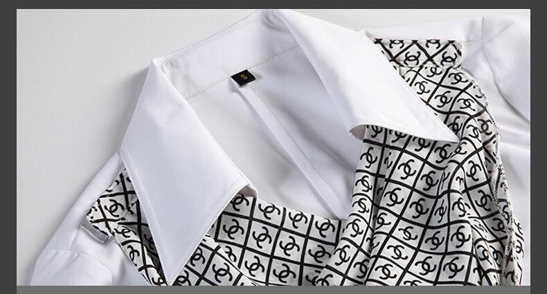 HTB1JmKgJpXXXXchXFXXq6xXFXXXY - Women's shirt slim formal scarf collar long-sleeve blouses